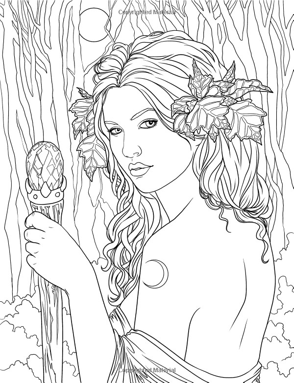 Best ideas about Free Printable Coloring Pages For Adults Dark Fairies . Save or Pin Fairy Adult coloring page source Now.