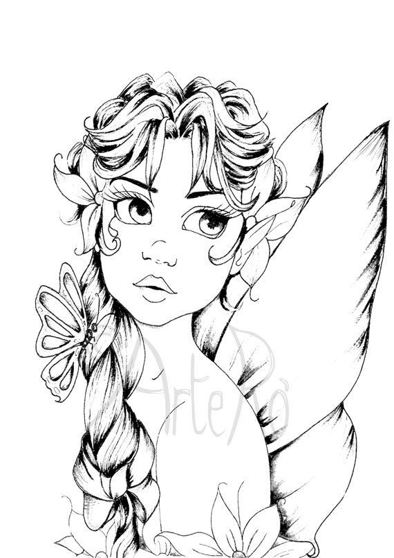Best ideas about Free Printable Coloring Pages For Adults Dark Fairies . Save or Pin Fairy coloring page The Art Therapy … coloring Now.