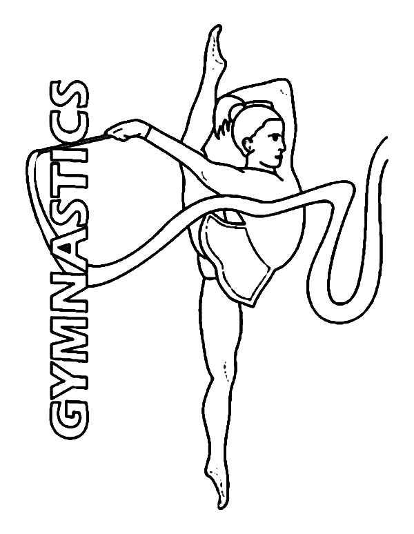 Best ideas about Free Printable Coloring Pages Gymnastics . Save or Pin Gymnastics Drawing Easy at GetDrawings Now.