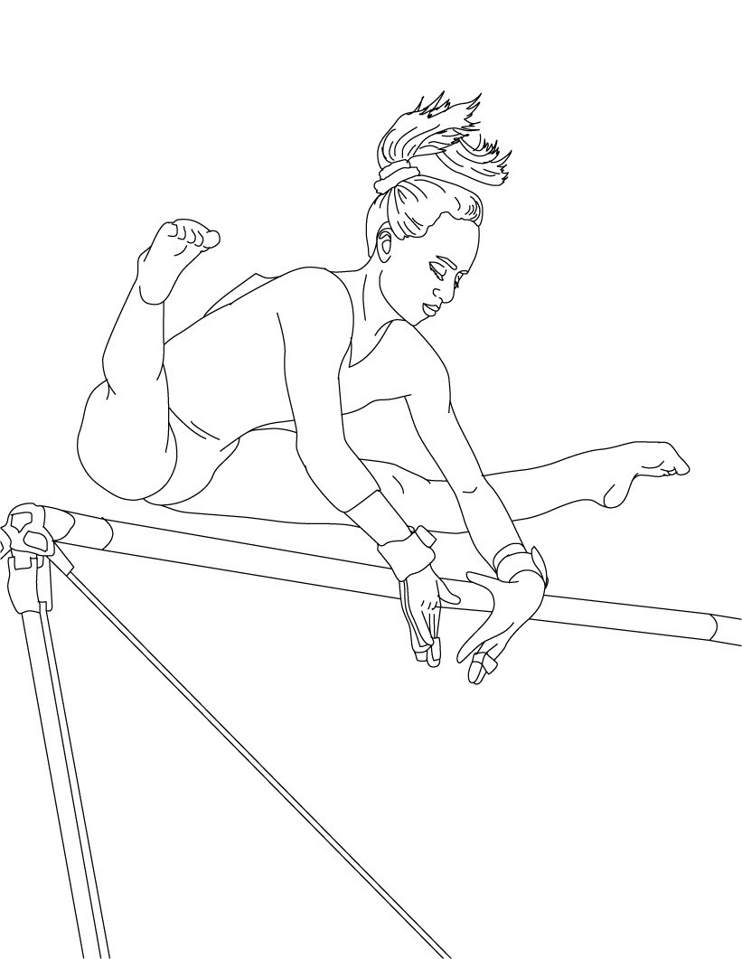 Best ideas about Free Printable Coloring Pages Gymnastics . Save or Pin Free Printable Gymnastics Coloring Pages For Kids Now.