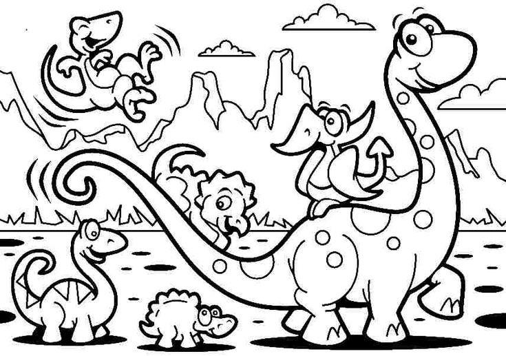 Best ideas about Free Printable Coloring Sheets For Boys Animal . Save or Pin Free Coloring Sheets Animal Cartoon Dinosaurs For Kids Now.