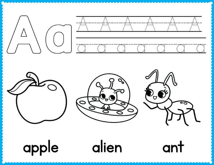 Best ideas about Free Printable Coloring Sheets For Preschoolers Alphabets . Save or Pin Free Alphabet Coloring Pages – Preschool Printables – Slap Now.