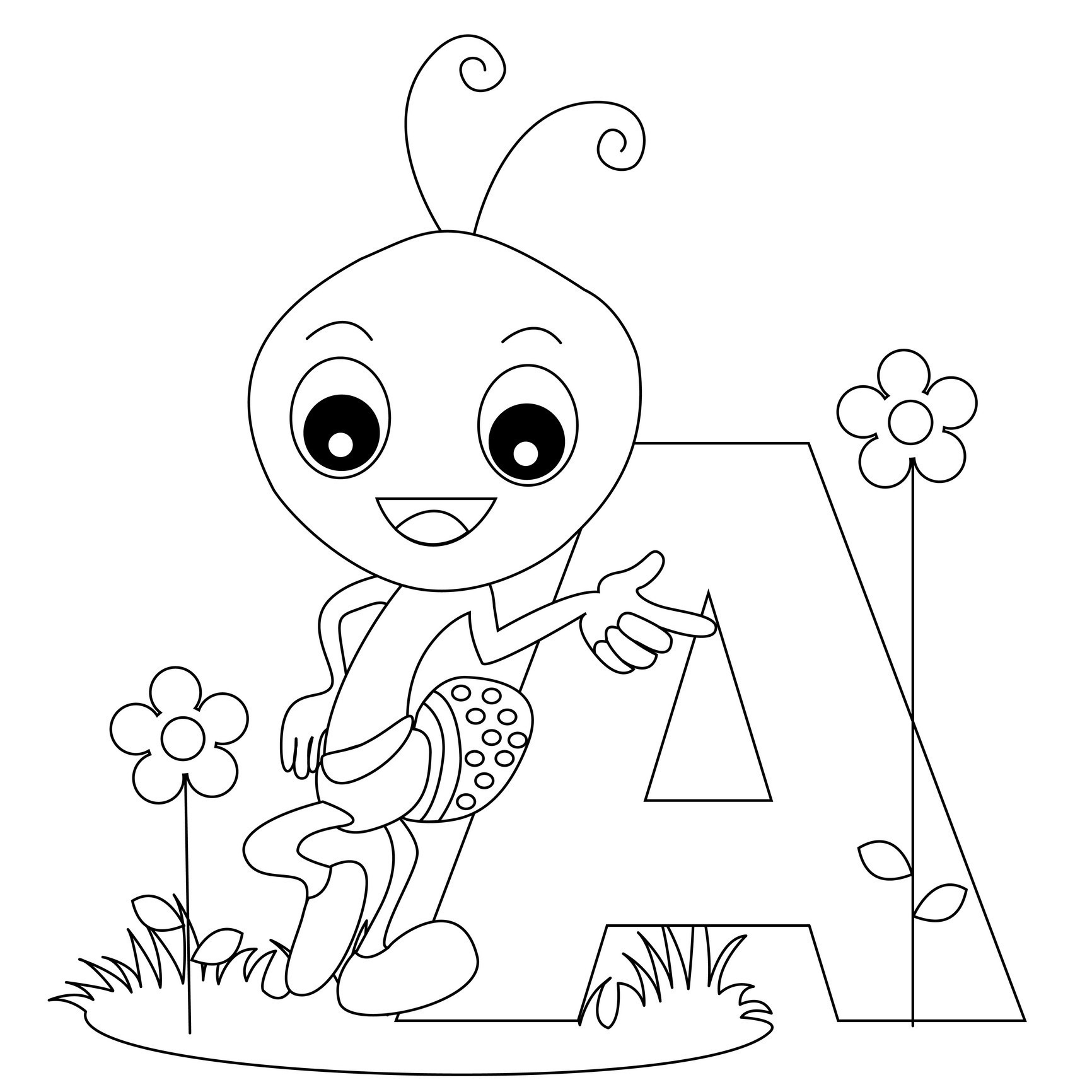 Best ideas about Free Printable Coloring Sheets For Preschoolers Alphabets . Save or Pin Free Printable Alphabet Coloring Pages for Kids Best Now.