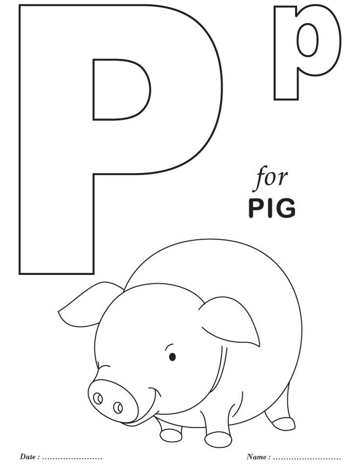 Best ideas about Free Printable Coloring Sheets For Preschoolers Alphabets . Save or Pin If You Give A Pig A Party craft idea Now.
