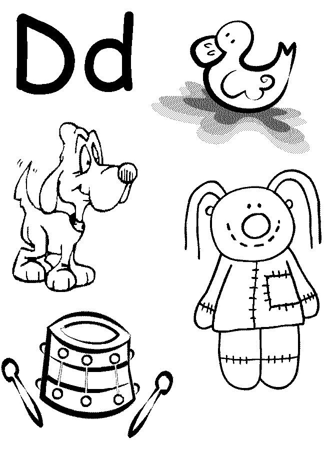 Best ideas about Free Printable Coloring Sheets For Preschoolers Alphabets . Save or Pin Letter D Worksheet Preschool at home Now.