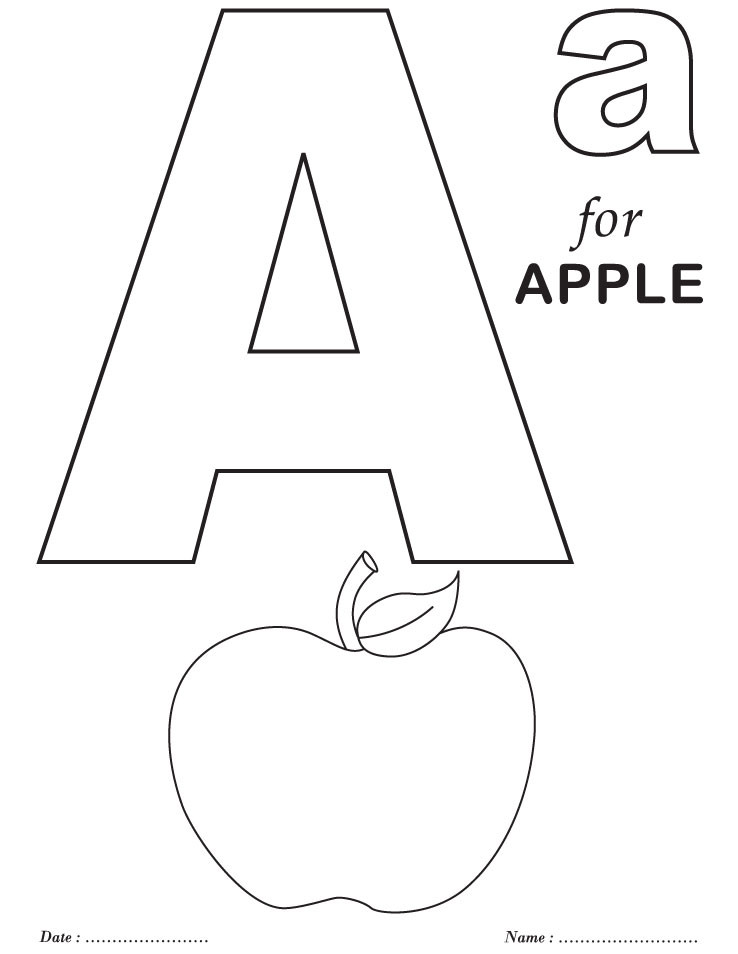 Best ideas about Free Printable Coloring Sheets For Preschoolers Alphabets . Save or Pin Printables Alphabet A Coloring Sheets Now.