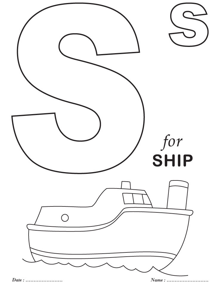 Best ideas about Free Printable Coloring Sheets For Preschoolers Alphabets . Save or Pin Preschool Coloring Pages Alphabet AZ Coloring Pages Now.