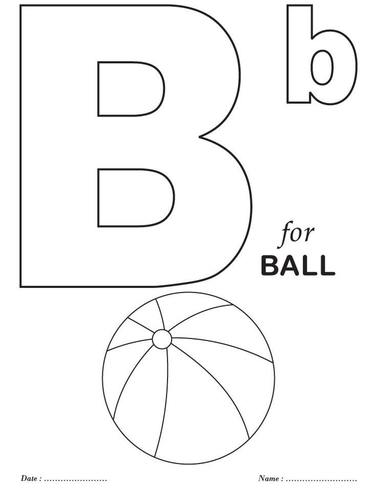 Best ideas about Free Printable Coloring Sheets For Preschoolers Alphabets . Save or Pin Printables Alphabet B Coloring Sheets Now.
