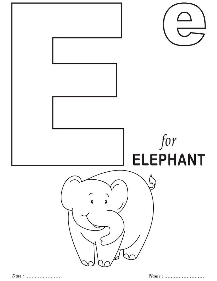 Best ideas about Free Printable Coloring Sheets For Preschoolers Alphabets . Save or Pin Printables Alphabet E Coloring Sheets Now.