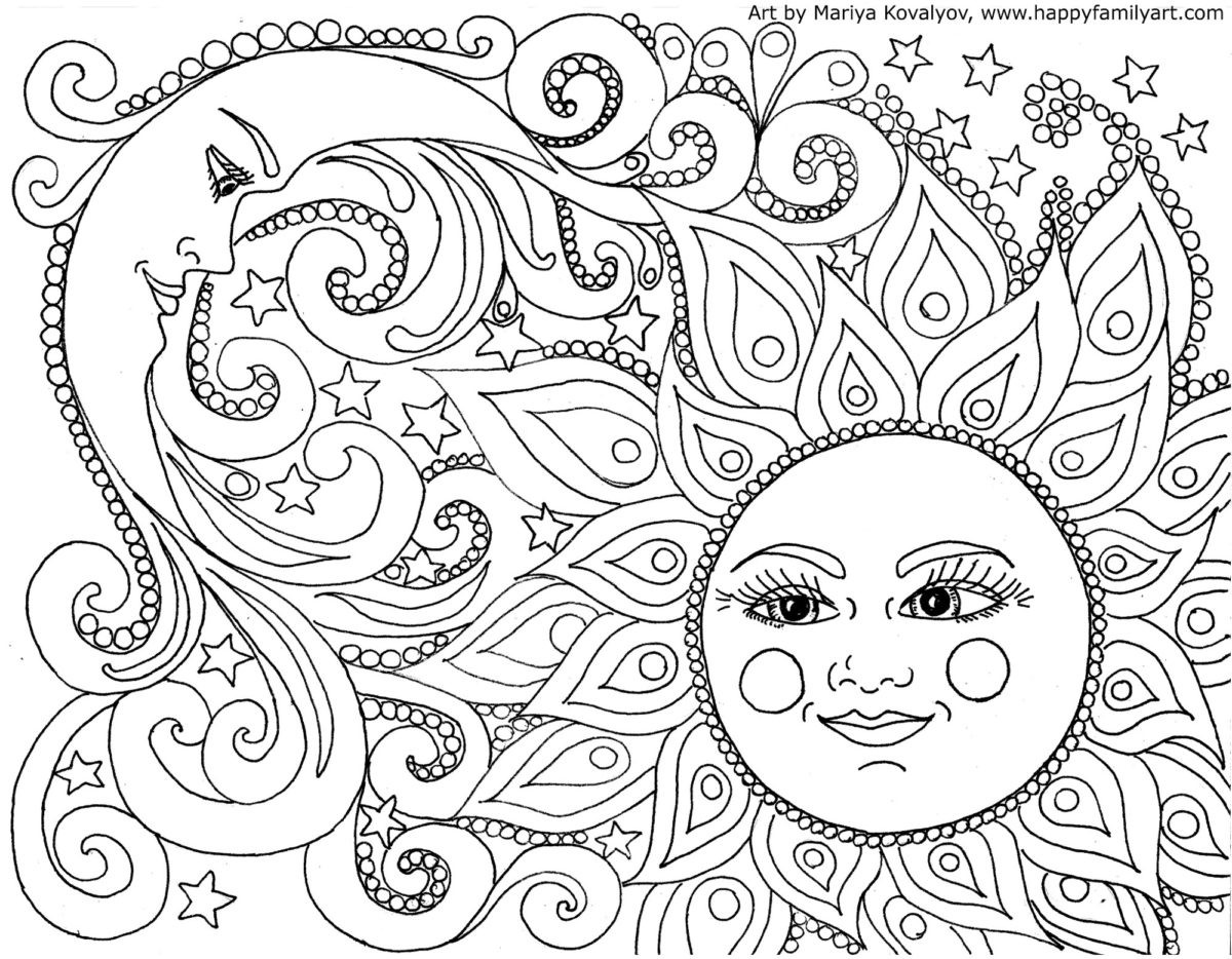 Best ideas about Free Printable Coloring Sheets Fun . Save or Pin Happy Family Art original and fun coloring pages Now.