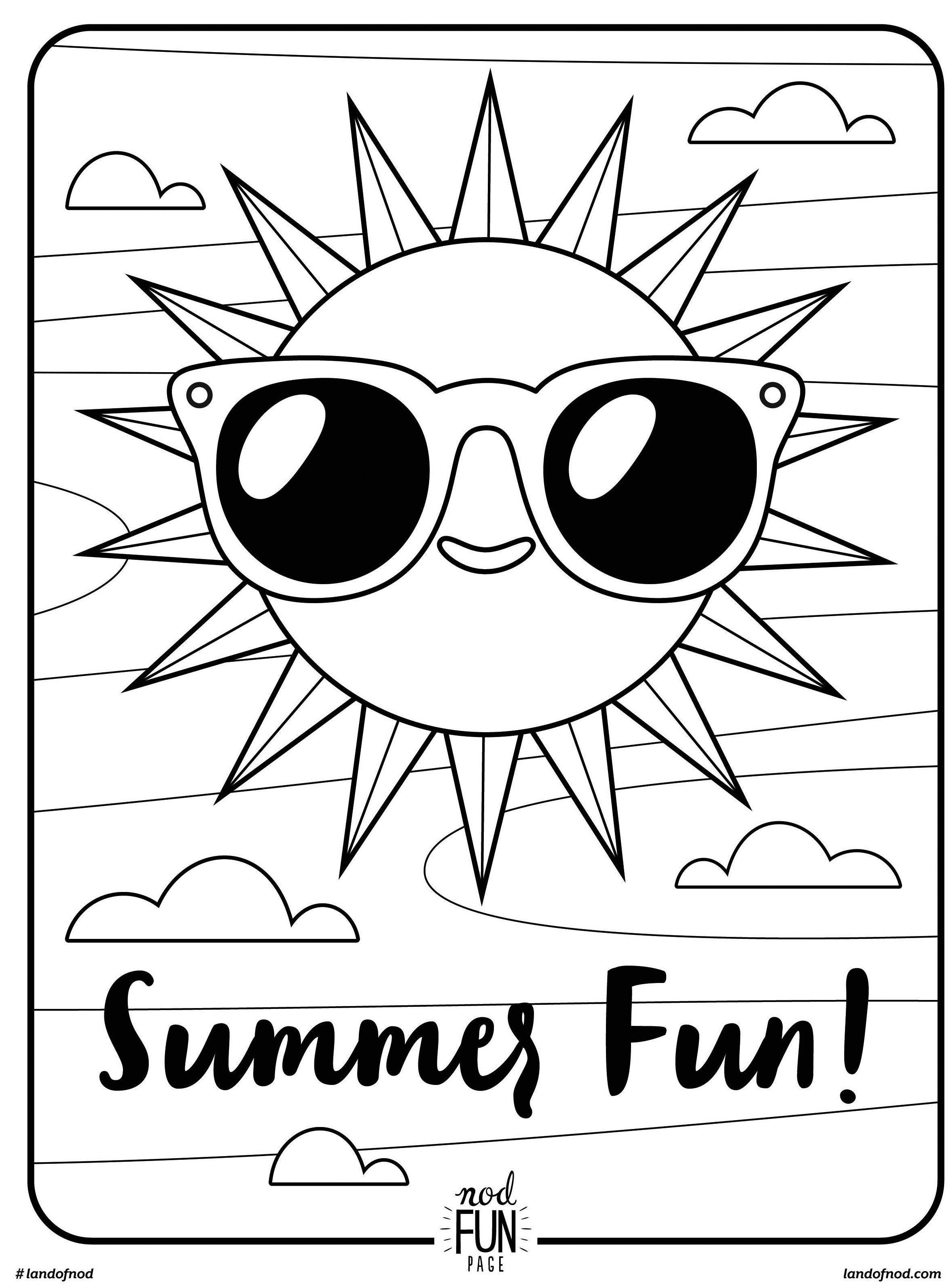 Best ideas about Free Printable Coloring Sheets Fun . Save or Pin Free Printable Coloring Page Summer Fun summer Now.