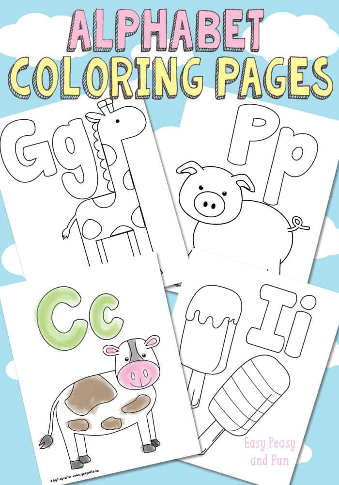 Best ideas about Free Printable Coloring Sheets Letters . Save or Pin Free Printable Alphabet Coloring Pages Easy Peasy and Fun Now.