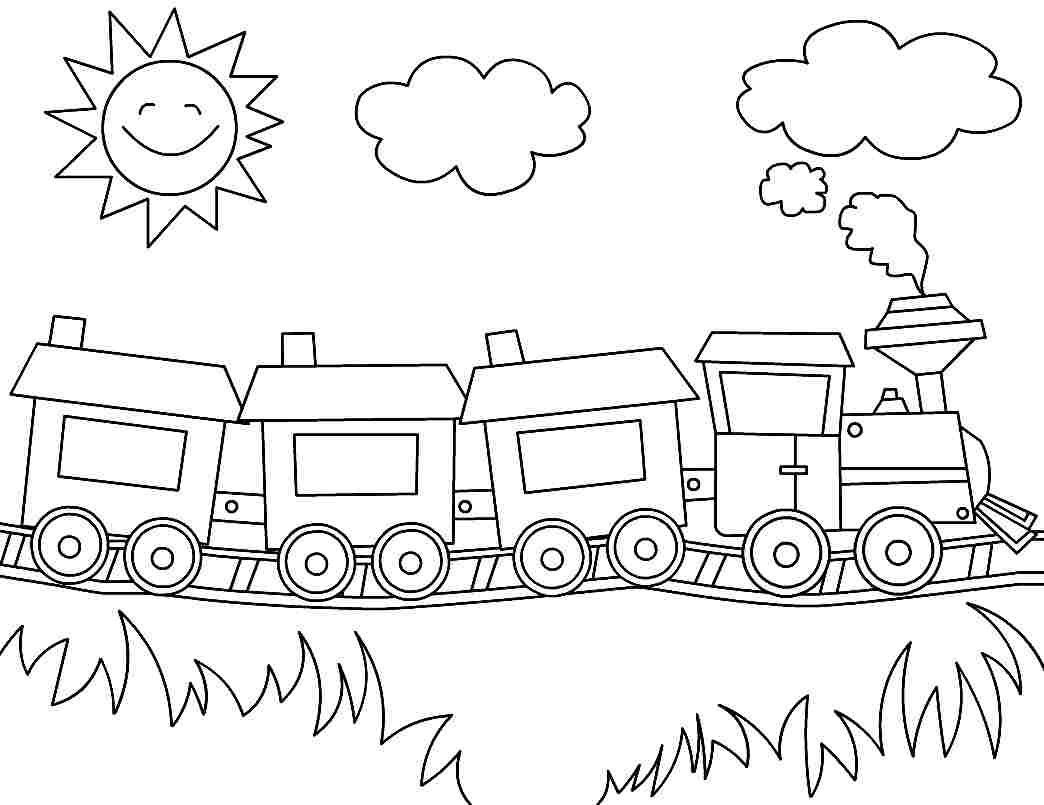 Best ideas about Free Printable Coloring Sheets Train . Save or Pin Printable Coloring Pages Transportation Train For Now.