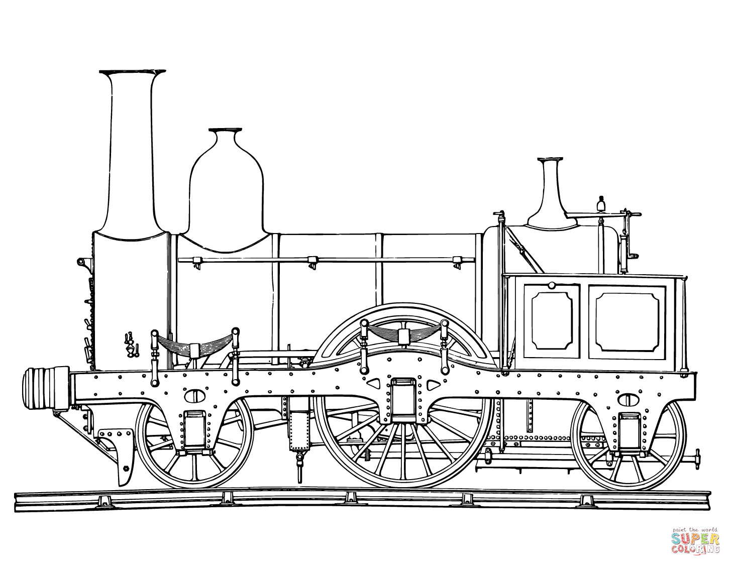 Best ideas about Free Printable Coloring Sheets Train . Save or Pin Steam Train coloring page Now.