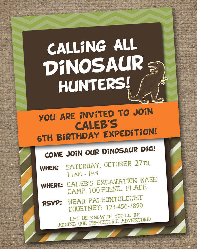 Best ideas about Free Printable Dinosaur Birthday Invitations . Save or Pin Freebie Friday Free Dinosaur Party Printables Now.