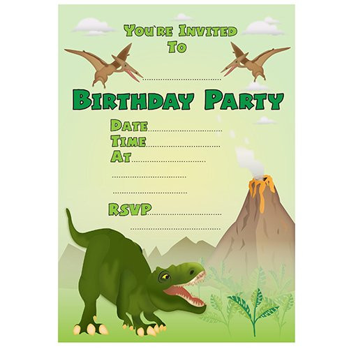 Best ideas about Free Printable Dinosaur Birthday Invitations . Save or Pin 19 Roaring Dinosaur Birthday Invitations Now.