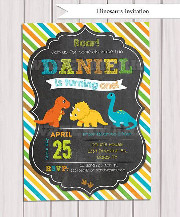 Best ideas about Free Printable Dinosaur Birthday Invitations . Save or Pin 29 Dinosaur Birthday Invitation Designs & Templates PSD Now.