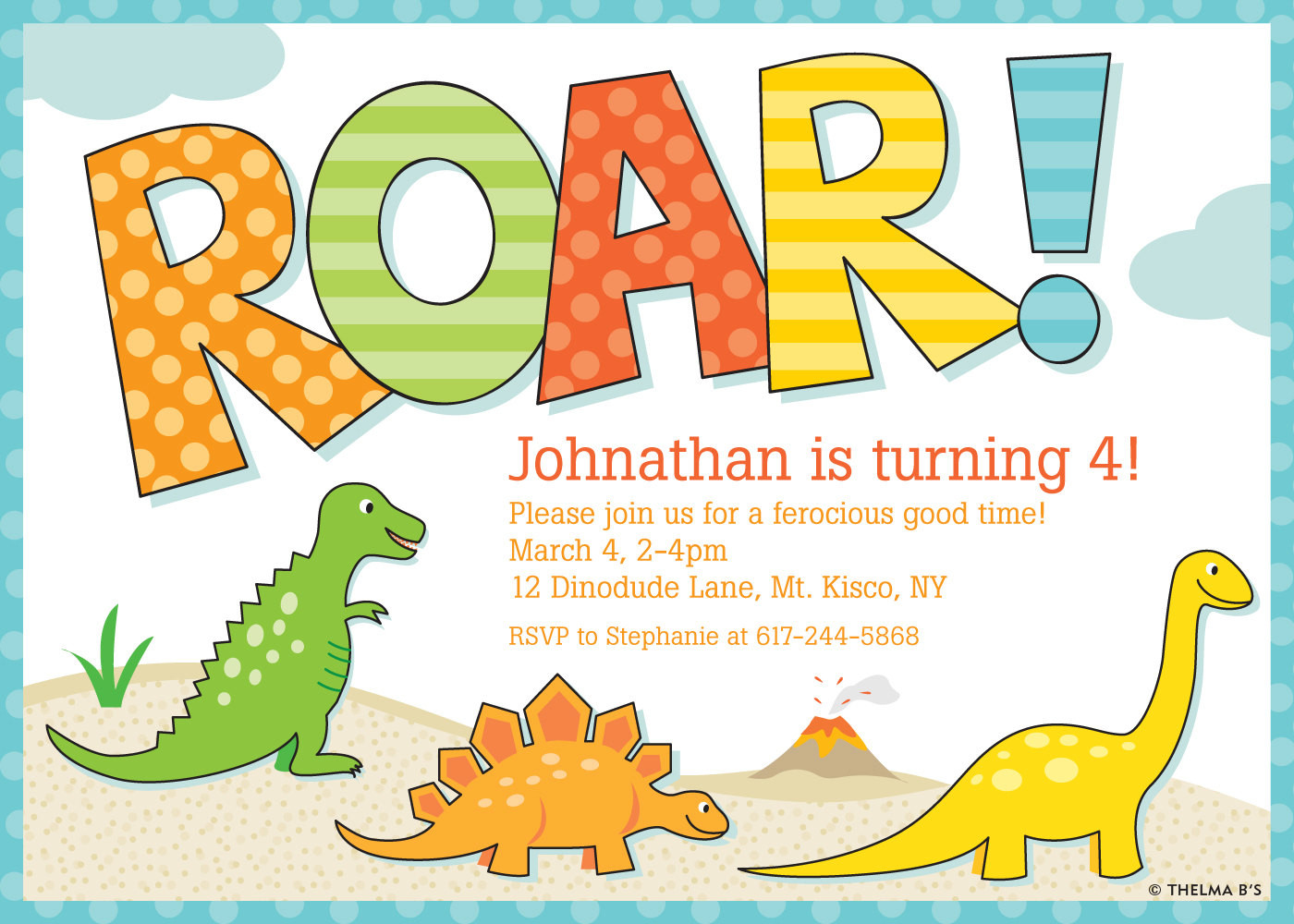 Best ideas about Free Printable Dinosaur Birthday Invitations . Save or Pin Dinosaur Invitation Dinosaur Party Invitation Dinosaur by Now.