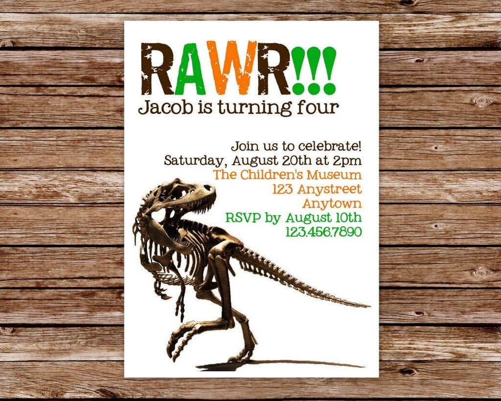 Best ideas about Free Printable Dinosaur Birthday Invitations . Save or Pin DIY Printable Dinosaur Birthday Party by thepaperblossomshop Now.
