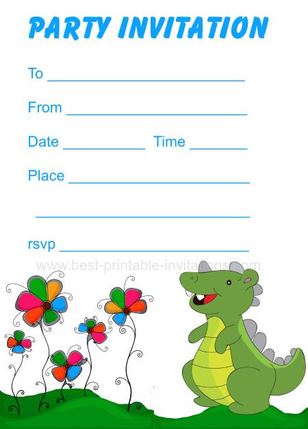 Best ideas about Free Printable Dinosaur Birthday Invitations . Save or Pin Printable Dinosaur Birthday Invitations Now.