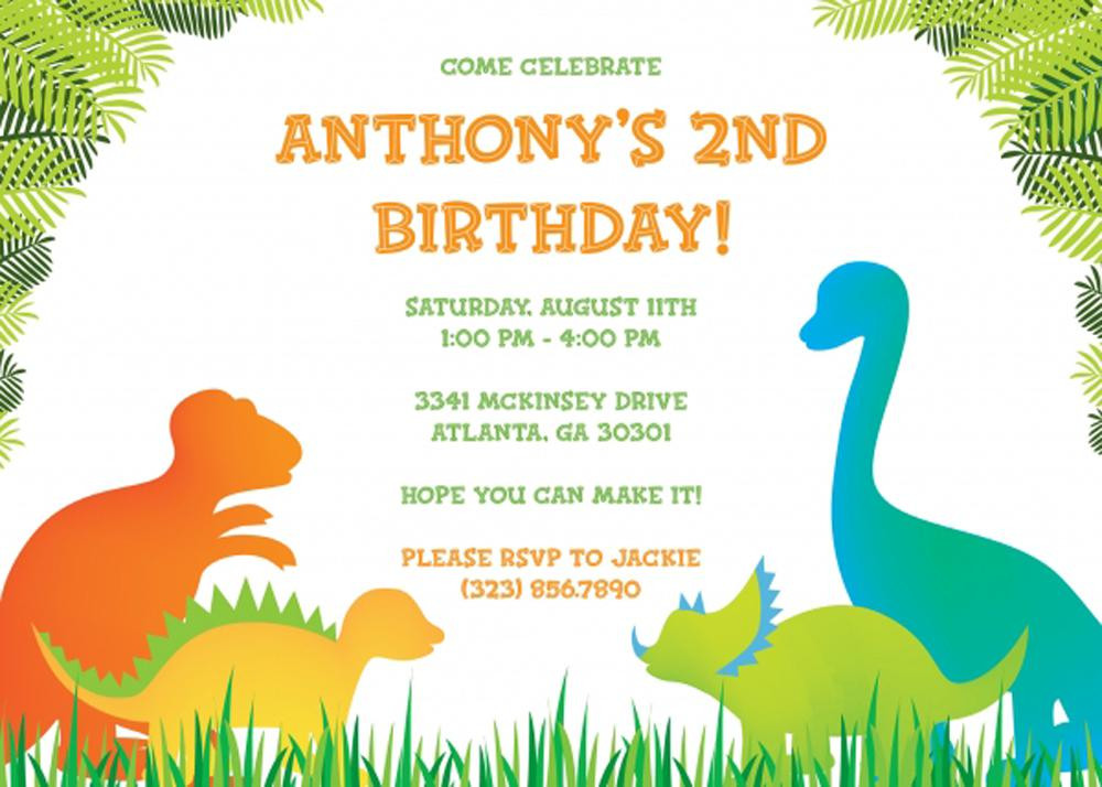 Best ideas about Free Printable Dinosaur Birthday Invitations . Save or Pin 17 Dinosaur Birthday Invitations How To Sample Templates Now.
