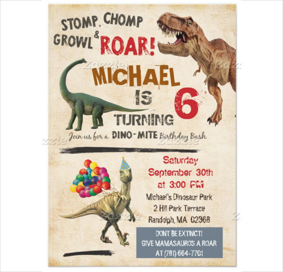 Best ideas about Free Printable Dinosaur Birthday Invitations . Save or Pin 26 Dinosaur Birthday Invitation Templates – Free Sample Now.