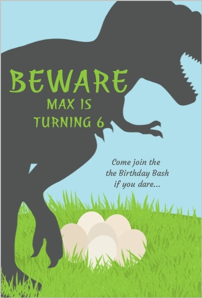 Best ideas about Free Printable Dinosaur Birthday Invitations . Save or Pin Trex Dinosaur Birthday Party Invitation Now.