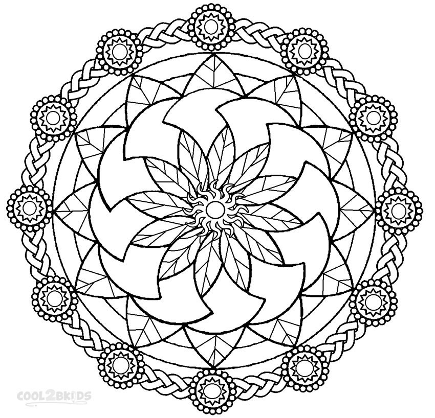Best ideas about Free Printable Mandala Coloring Pages For Kids . Save or Pin Printable Mandala Coloring Pages For Kids Now.