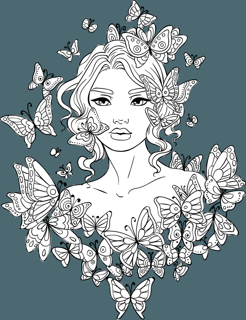 Best ideas about Free Printable Of Roses Coloring Pages For Girls Pinterest. . Save or Pin Line Artsy Free adult coloring page Butterflies Around Now.