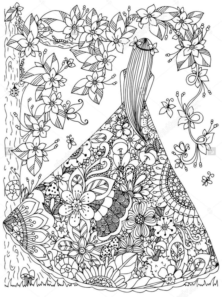 Best ideas about Free Printable Of Roses Coloring Pages For Girls Pinterest. . Save or Pin антистресс раскраски для девочек орнамент Now.