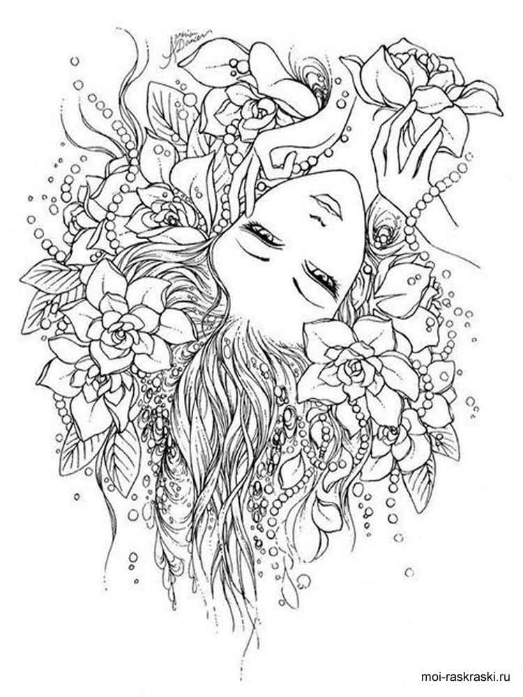 Best ideas about Free Printable Of Roses Coloring Pages For Girls Pinterest. . Save or Pin Раскраски для взрослых Скачать и распечатать раскраски Now.