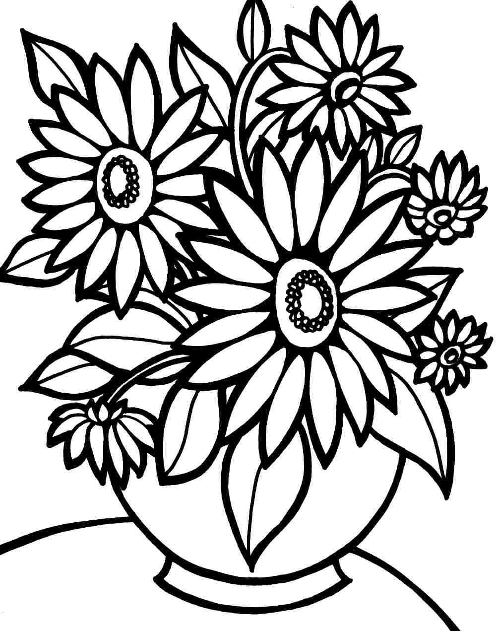 Best ideas about Free Printable Of Roses Coloring Pages For Girls Pinterest. . Save or Pin Colouring Pages Bouquet Flowers Printable Free For Kids Now.
