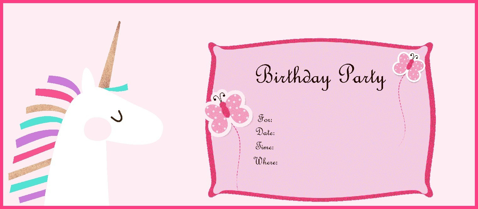 Best ideas about Free Printable Unicorn Birthday Invitations . Save or Pin Unicorn Invitation Templates Designed to meet the Now.