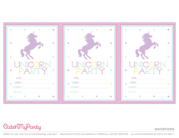 Best ideas about Free Printable Unicorn Birthday Invitations . Save or Pin The Best Free Unicorn Birthday Party Printables Now.