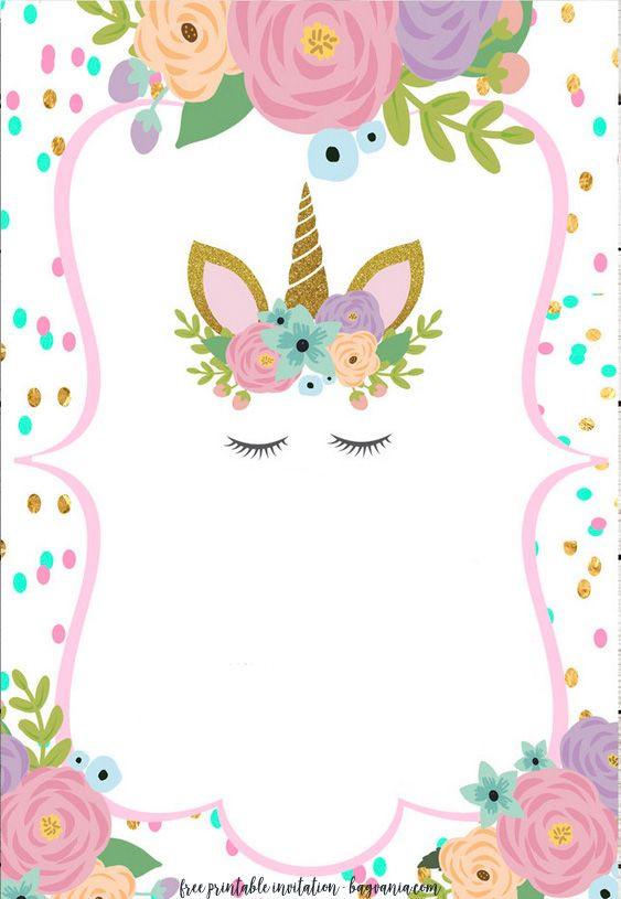 Best ideas about Free Printable Unicorn Birthday Invitations . Save or Pin FREE Unicorn Invitation Templates New Now.