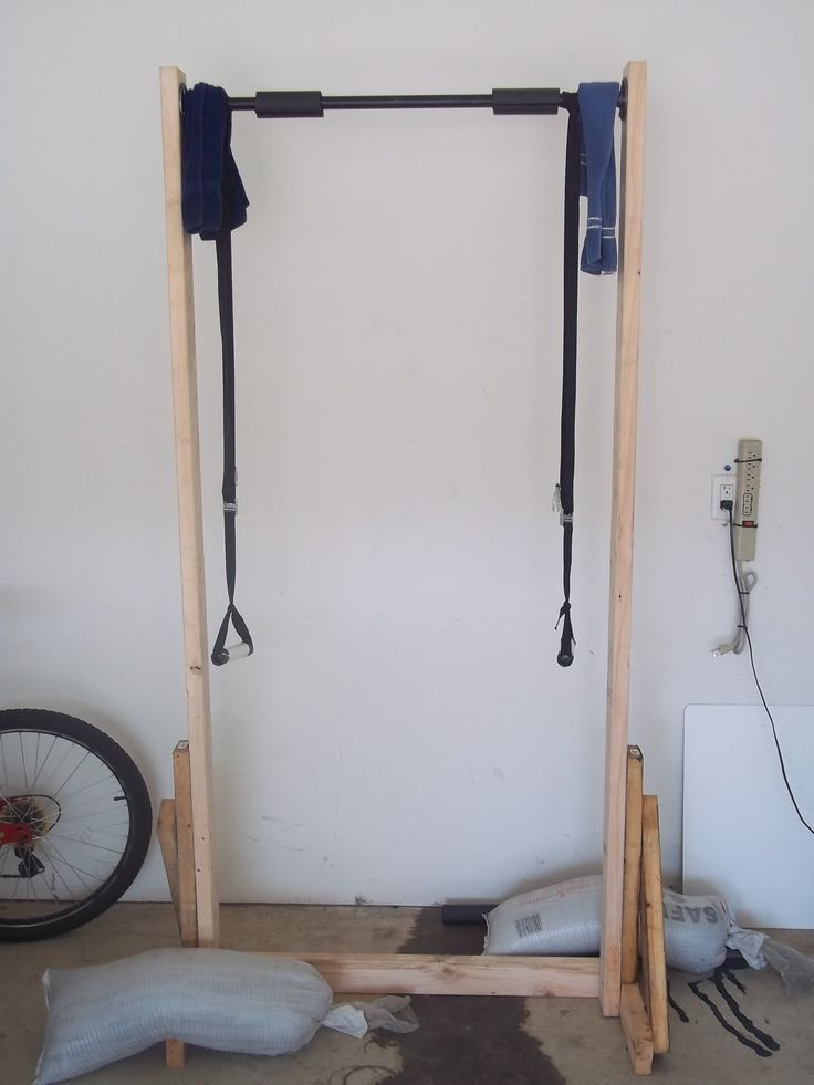 Best ideas about Free Standing Pull Up Bar DIY . Save or Pin 17 Best images about wood workout equipment on Pinterest Now.