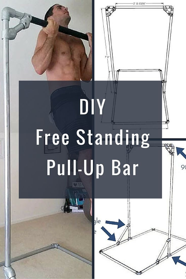 Best ideas about Free Standing Pull Up Bar DIY . Save or Pin DIY Free Standing Pull Up Bar KeeKlamp pullupbar Now.