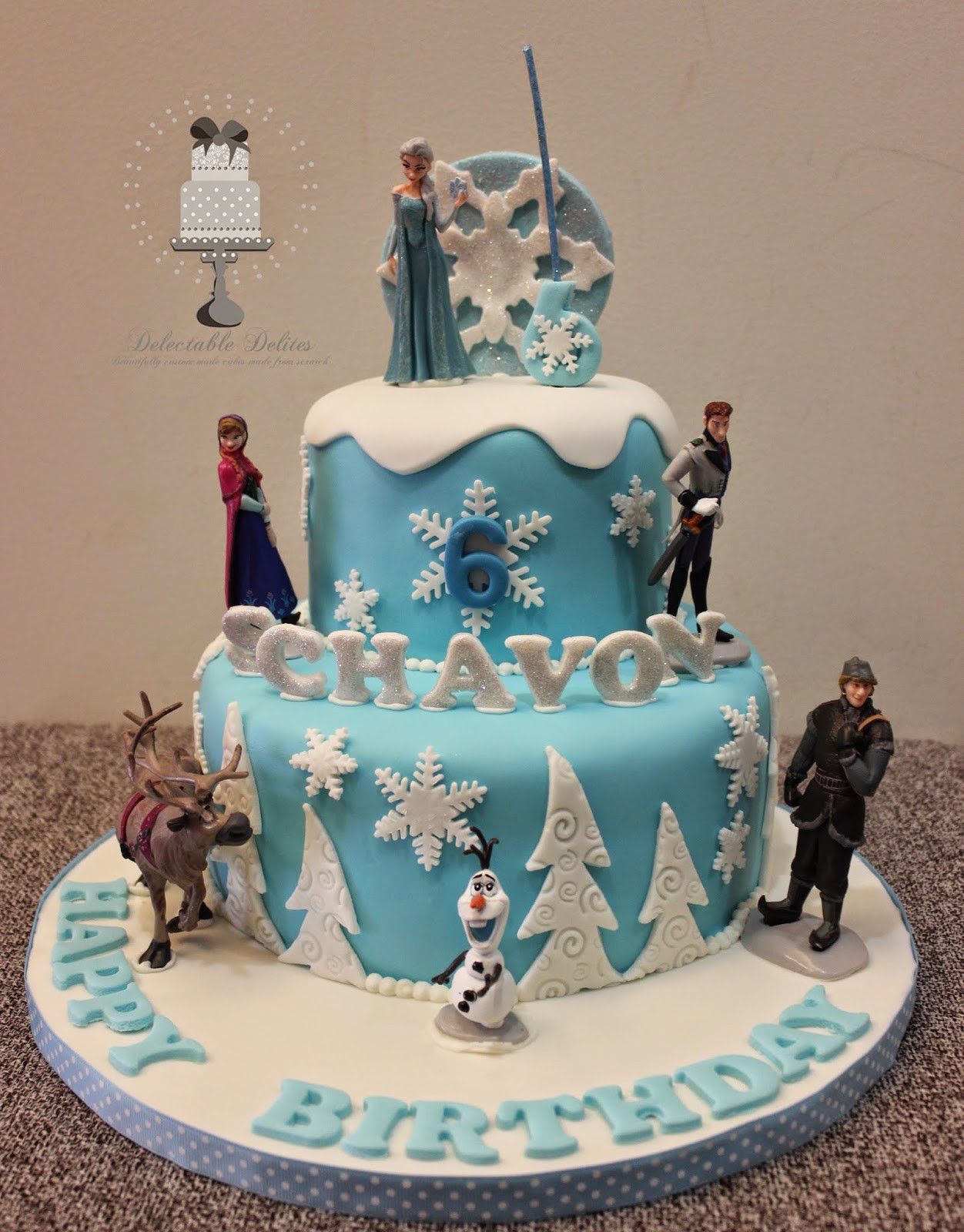 Best ideas about Frozen Birthday Cake Walmart . Save or Pin Delectable Delites Disney Frozen theme cake Now.