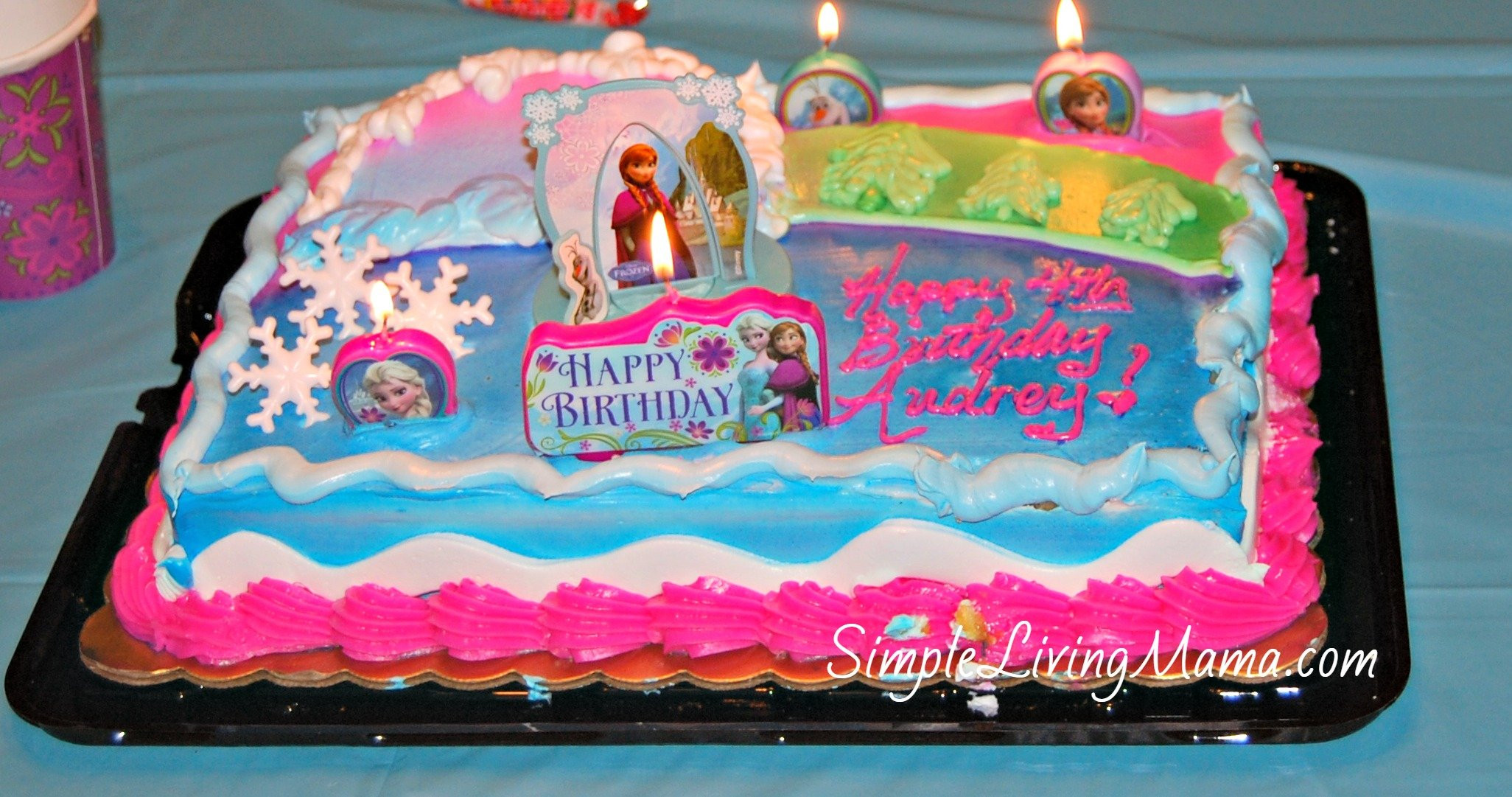 Best ideas about Frozen Birthday Cake Walmart . Save or Pin Our Frozen Birthday Party Simple Living Mama Now.