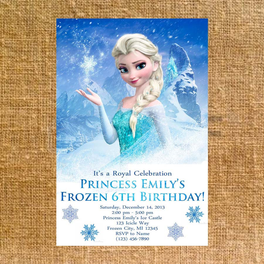 Best ideas about Frozen Birthday Party Invitations . Save or Pin Customized Frozen Birthday Party Invite Digital File Now.