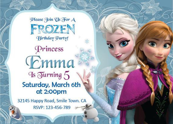 Best ideas about Frozen Birthday Party Invitations . Save or Pin Unavailable Listing on Etsy Now.