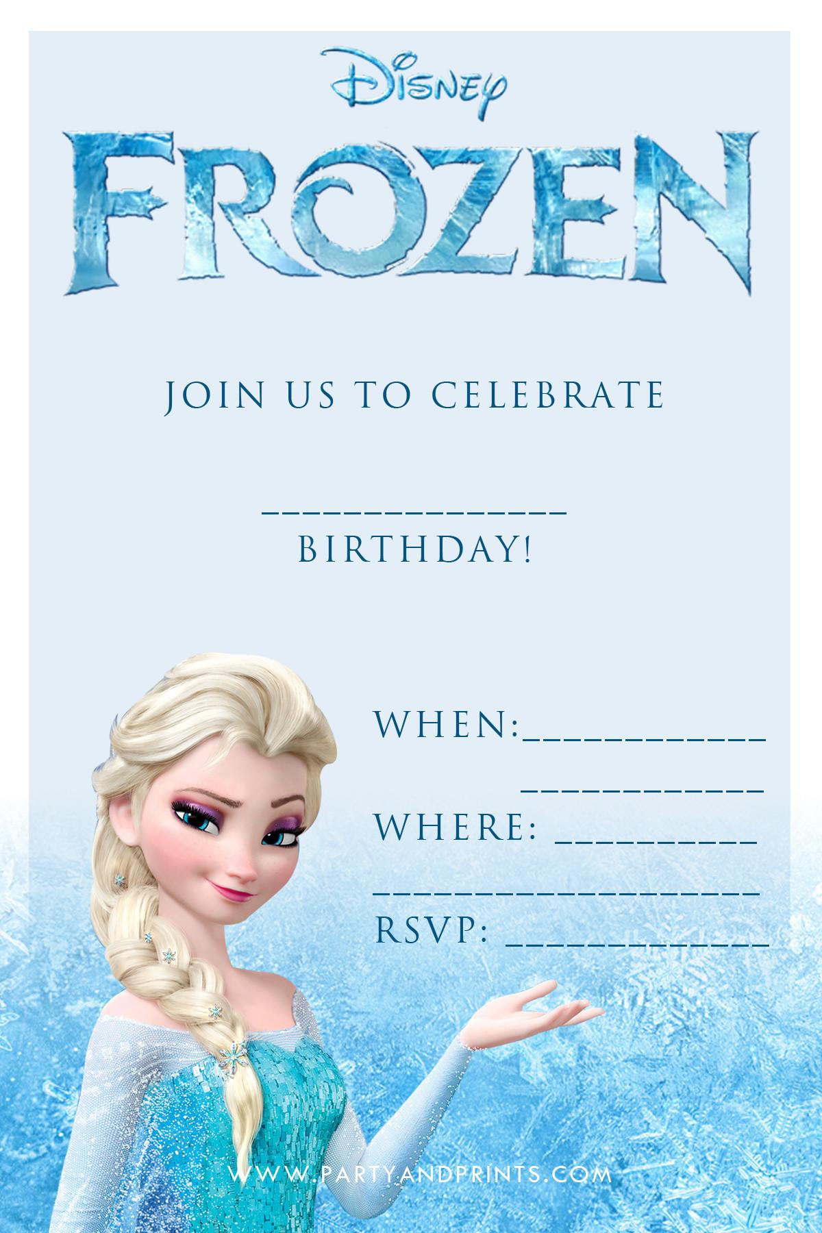 Best ideas about Frozen Birthday Party Invitations . Save or Pin 20 Frozen Birthday Party Ideas Now.