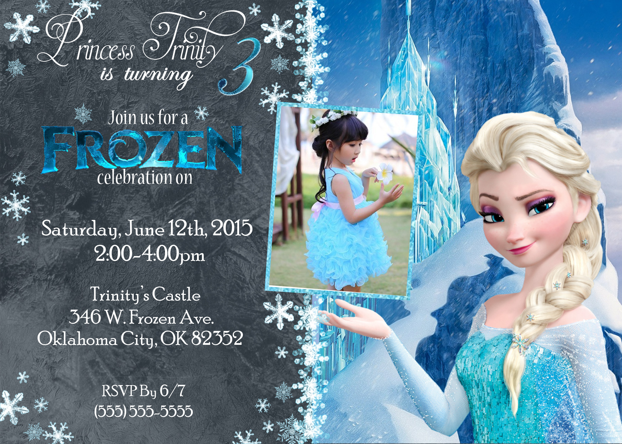 Best ideas about Frozen Birthday Party Invitations . Save or Pin Frozen Birthday Invitations Now.