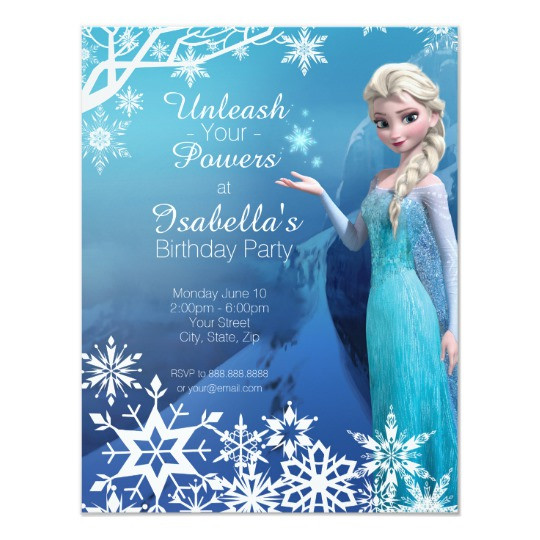 Best ideas about Frozen Birthday Party Invitations . Save or Pin Frozen Elsa Birthday Party Invitation Now.