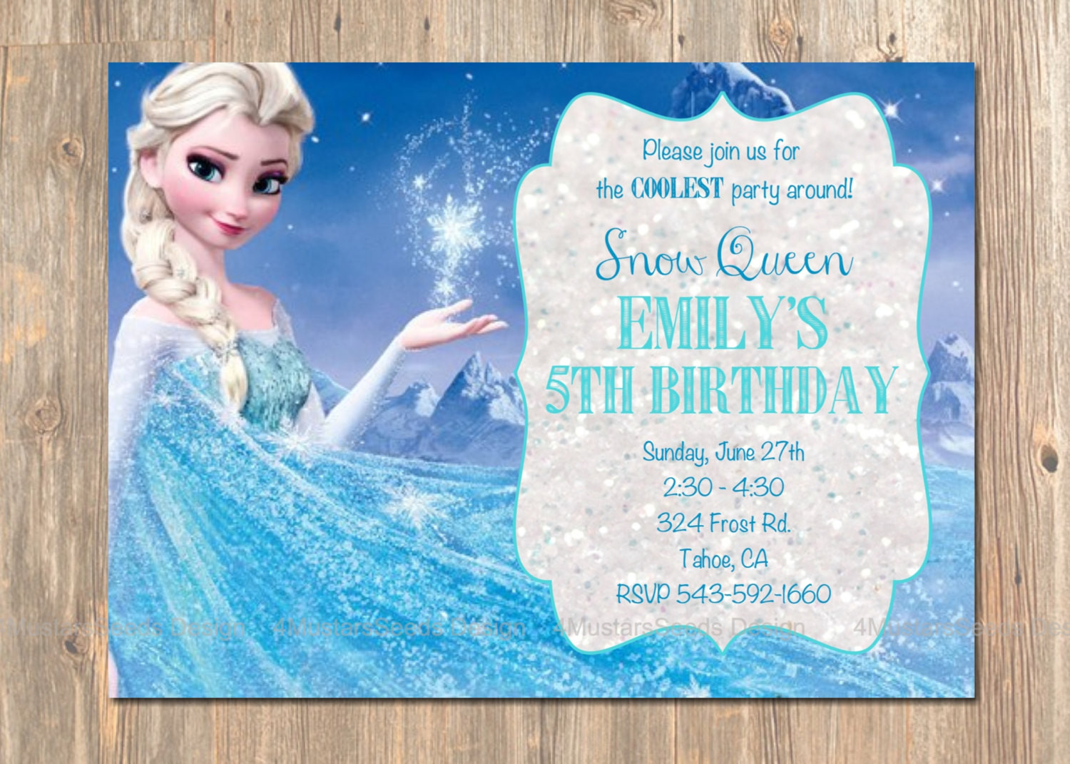 Best ideas about Frozen Birthday Party Invitations . Save or Pin Frozen Birthday Invitation Elsa Frozen Invitation Printable Now.