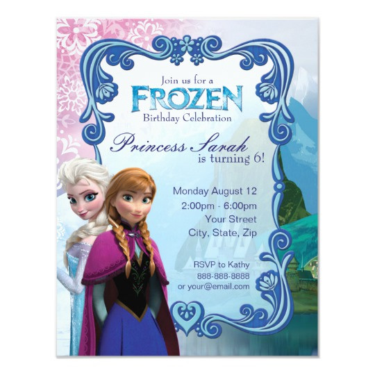 Best ideas about Frozen Birthday Party Invitations . Save or Pin Frozen Birthday Party Invitation Now.