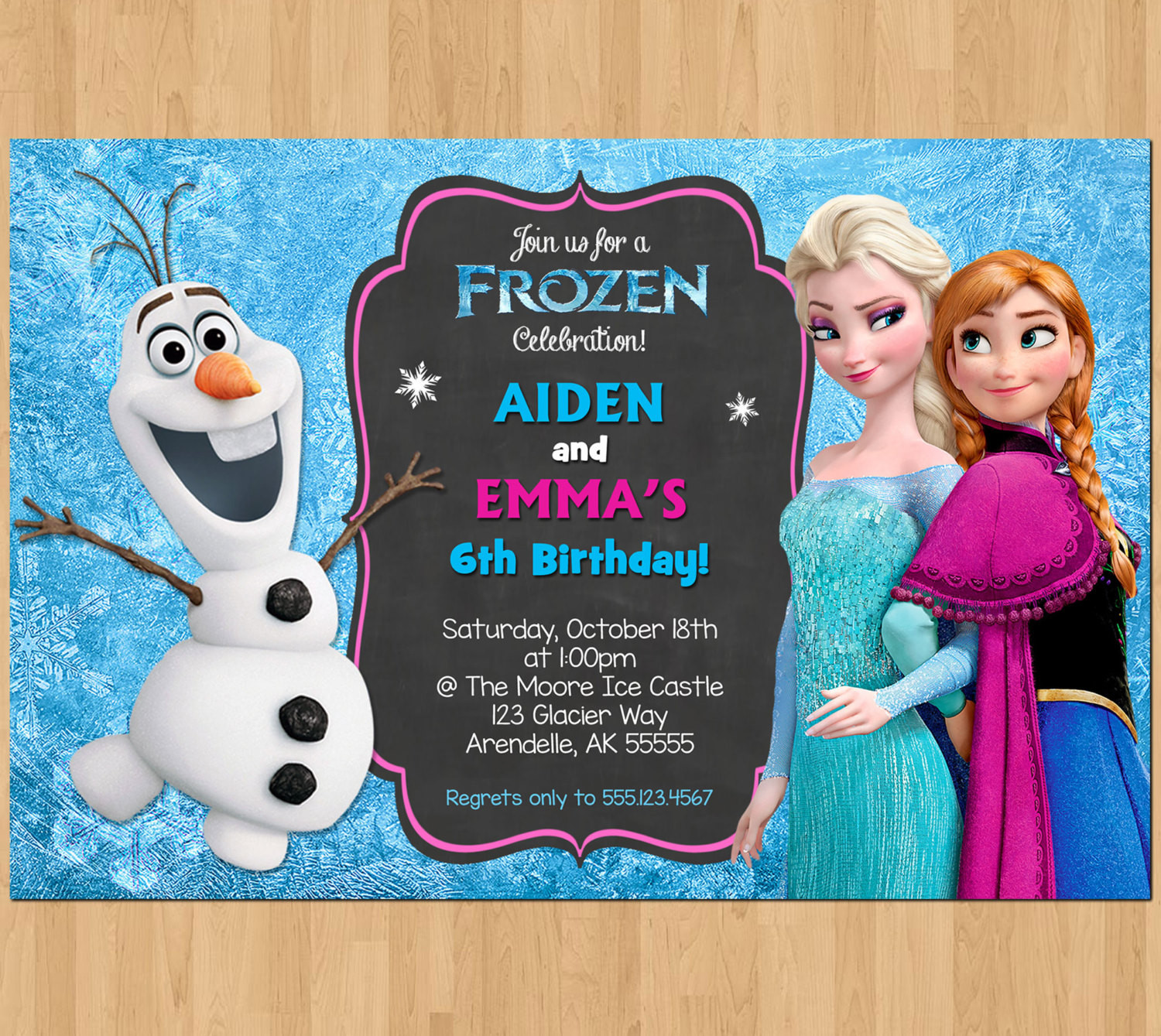 Best ideas about Frozen Birthday Party Invitations . Save or Pin Sibling Birthday Invitation Frozen Invitation Olaf Elsa Anna Now.