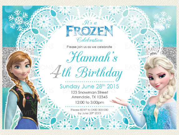 Best ideas about Frozen Birthday Party Invitations . Save or Pin 12 Frozen Birthday Invitation PSD AI Vector EPS Now.