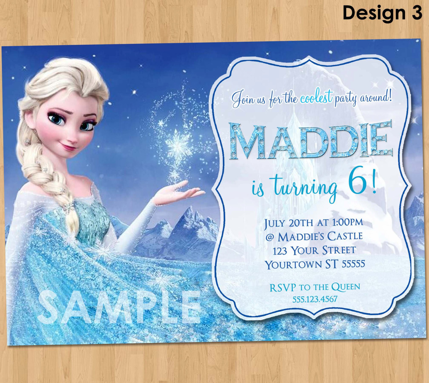 Best ideas about Frozen Birthday Party Invitations . Save or Pin Frozen Birthday Invitation Elsa Frozen Invitation Now.