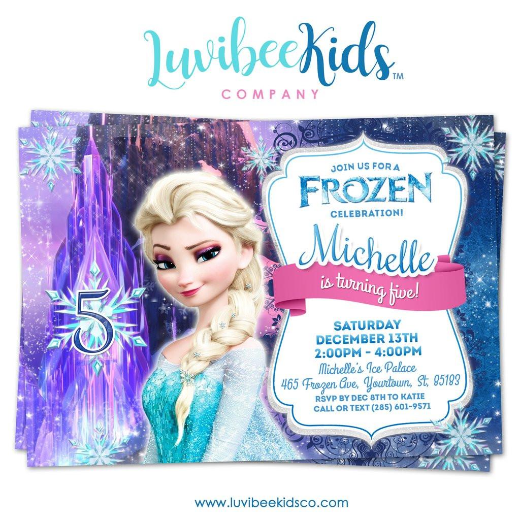 Best ideas about Frozen Birthday Party Invitations . Save or Pin Frozen Birthday Invitation Now.